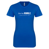Next Level Ladies SoftStyle Junior Fitted Royal Tee-Feel the Rumble