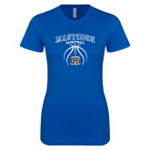Next Level Ladies SoftStyle Junior Fitted Royal Tee-Mastodon Basketball