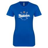 Next Level Ladies SoftStyle Junior Fitted Royal Tee-Mastodon Softball