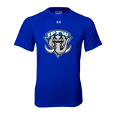 Under Armour Royal Tech Tee-IPFW Mastodon Shield