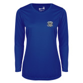 Ladies Syntrel Performance Royal Longsleeve Shirt-Primary Mark