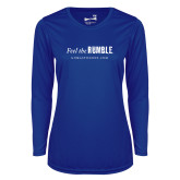 Ladies Syntrel Performance Royal Longsleeve Shirt-Feel the Rumble