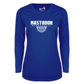 Ladies Syntrel Performance Royal Longsleeve Shirt-Basketball Graphic