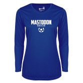 Ladies Syntrel Performance Royal Longsleeve Shirt-Soccer Graphic