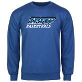 Royal Fleece Crew-Basketball