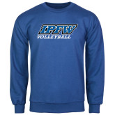 Royal Fleece Crew-Volleyball