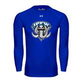 Under Armour Royal Long Sleeve Tech Tee-IPFW Mastodon Shield