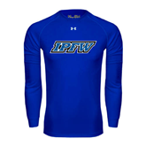 Under Armour Royal Long Sleeve Tech Tee-IPFW