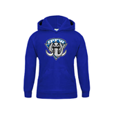 Youth Royal Fleece Hoodie-IPFW Mastodon Shield