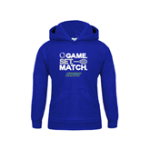 Youth Royal Fleece Hoodie-Game Set Match Tennis Design