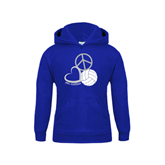 Youth Royal Fleece Hoodie-Peace, Love, and Volleyball