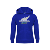 Youth Royal Fleece Hoodie-Track and Field Side Shoe Design