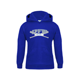 Youth Royal Fleece Hoodie-Baseball Bats Design