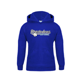Youth Royal Fleece Hoodie-Softball Design