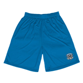 Performance Royal 9 Inch Length Shorts-IPFW Mastodon Shield