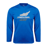 Syntrel Performance Royal Longsleeve Shirt-Track and Field Side Shoe Design