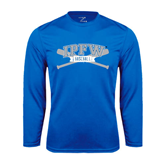 Syntrel Performance Royal Longsleeve Shirt-Baseball Bats Design