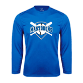 Syntrel Performance Royal Longsleeve Shirt-Softball Bats and Plate Design