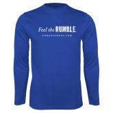 Performance Royal Longsleeve Shirt-Feel the Rumble
