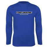 Performance Royal Longsleeve Shirt-Fort Wayne Mastadons