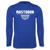 Performance Royal Longsleeve Shirt-Basketball Graphic