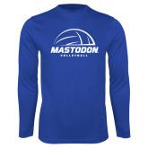 Performance Royal Longsleeve Shirt-Mastodon Volleyball