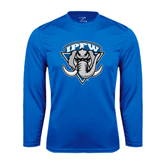 Syntrel Performance Royal Longsleeve Shirt-IPFW Mastodon Shield
