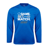Syntrel Performance Royal Longsleeve Shirt-Game Set Match Tennis Design