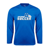 Syntrel Performance Royal Longsleeve Shirt-Soccer Swoosh Design