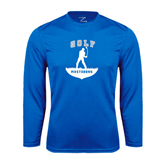 Syntrel Performance Royal Longsleeve Shirt-Golfer Golf Design
