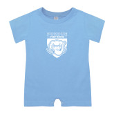 Light Blue Infant Romper-Primary Athletic Logo