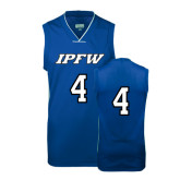 Replica Royal Adult Basketball Jersey-#4