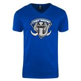 Next Level V Neck Royal T Shirt-Primary Mark