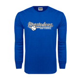 Royal Long Sleeve T Shirt-Softball Design