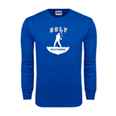 Royal Long Sleeve T Shirt-Golfer Golf Design