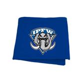 Royal Sweatshirt Blanket-IPFW Mastodon Shield