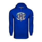 Under Armour Royal Performance Sweats Team Hoodie-IPFW Mastodon Shield