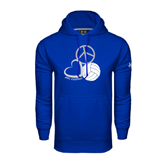 Under Armour Royal Performance Sweats Team Hood-Peace, Love, and Volleyball