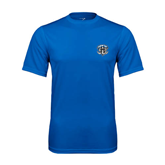 Syntrel Performance Royal Tee-IPFW Mastodon Shield