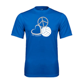 Syntrel Performance Royal Tee-Peace, Love, and Volleyball