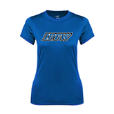 Ladies Syntrel Performance Royal Tee-IPFW