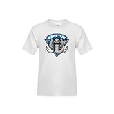 Youth White T Shirt-IPFW Mastodon Shield