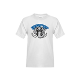 Youth White T Shirt-Arched IPFW with Mastodon