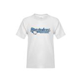 Youth White T Shirt-Softball Design
