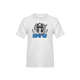 Youth White T Shirt-Mastodon with IPFW