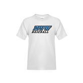 Youth White T Shirt-Baseball