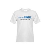 Youth White T Shirt-Feel The Rumble