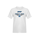 Youth White T Shirt-Track and Field Design