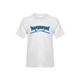 Youth White T Shirt-Baseball Design