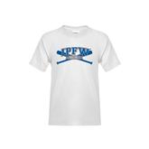 Youth White T Shirt-Baseball Bats Design